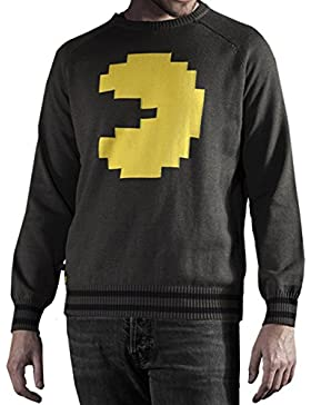 Pac-Man Pac-Man Maglione Uomo Multicolore Warm Cotton Sweater / Gaming Clothes da Musterbrand