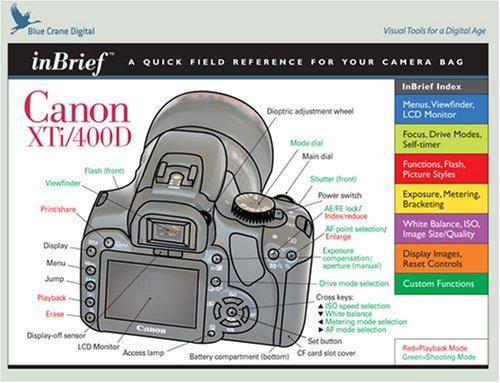 Canon Digital Rebel XTi /400D inBrief Reference Card by Blue Crane Digital (2006-12-01)