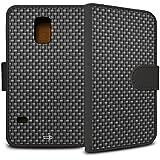 YOUNiiK Booklet Case Tasche (schwarz) für Samsung Galaxy S5 Mini - Carbon