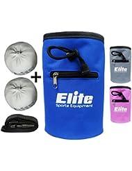 Elite Sportz Sacs à magnésie 100% carbonate de magnésium naturel & Sac à magnésie pour l'escalade, la gymnastique, l'haltérophilie & plus