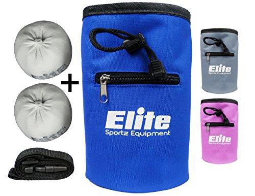 Elite-Sportz-Chalk-Bag--inklusive-2-x-100-natrliche-Kreide-Magnesiumcarbonat-Blle-zum-Klettern-Bouldern-Turnen-und-Gewichtheben