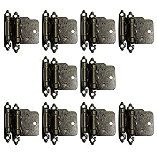 20 X Probrico Soft Self Close Kitchen Cabinet Hinges Antique Bronze Furniture Cupboard Door Hinge CH197AB
