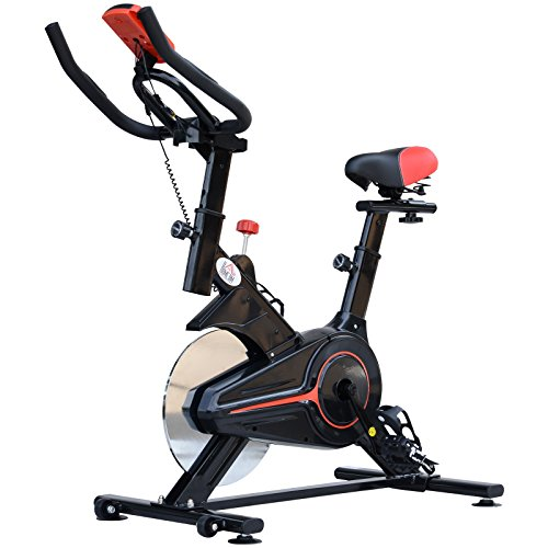 HOMCOM Indoor Cycling Bike Trainer Home Gym Fahrradtrainer Fitnessfahrrad 102x47x104cm -
