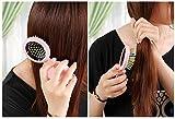 CINEEN-Arco-Iris-Peine-Plegable-para-Desenredar-Cabello-con-Espejo-Mini-Ronda-Pop-Up-Cepillo-Decoracin-Perfecto-para-Tratamientos-del-Cuero-Cabelludo