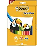 BiC Kids Evolution Colouring Pencils - Multi-Coloured, Pack of 18