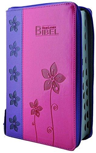 2009 Handtasche (NeueLuther Bibel: Luther 2009 - Softcover PU 2Tone lila/pink - Silberschnitt, Griffregister, Reißverschluss)