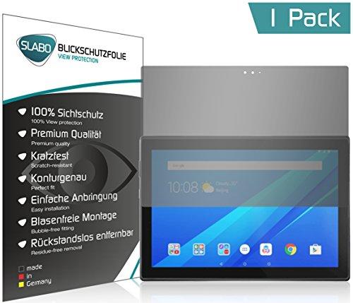 """Slabo Blickschutzfolie für Lenovo Tab4 10 Plus Sichtschutz Displayschutzfolie """"View Protection"""" Schwarz - privacy MADE IN GERMANY"""
