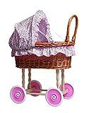 Egmont Wicker Kinderwagen mit Blume Betten