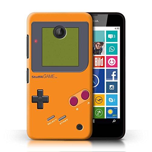 Stuff4 Hülle / Case für Nokia Lumia 635 / Orange Muster / Videogamer/Gameboy Kollektion