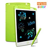 Richgv Colourful LCD Writing Tablet, 10 Inch Digital Ewriter Electronic Graphics Tablet Drawing Board, Portable Handwriting Doodle Pad with Stylus for Kids Office Home Learning Toys Gifts(Green)