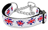 Mirage Pet Products Graffiti Union Jack UK Flagge Nylon Band Halsband Martingal für Haustiere, groß