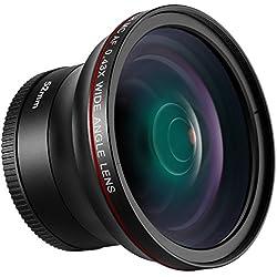 Neewer 52mm 0,43X HD Objectif Grand Qngle avec Macro Close-up Portion sans Distorsion Haute Définition Numérique pour Nikon D7100D7000D5200D5100D5000D3300D3200D3000D90D80