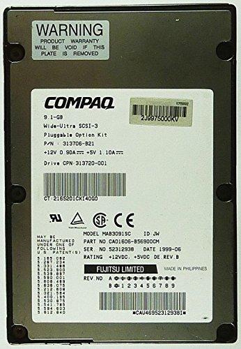 9,1GB Festplatte Compaq MAB3091SC U3 SCA SCSI ID9859 - Compaq Scsi-festplatte