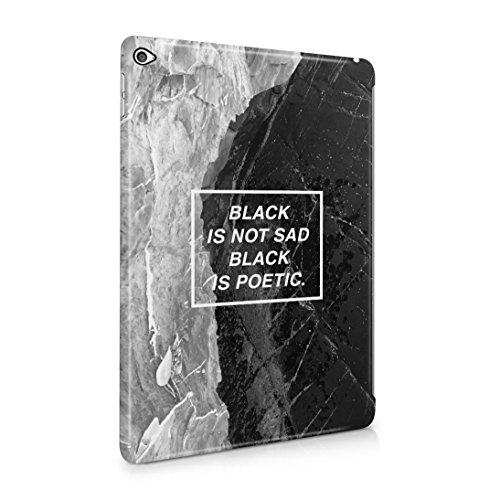 Black is Not Sad, It's Poetic Dünne Rückschale aus Hartplastik für iPad Air 2 Tablet Hülle Schutzhülle Slim Fit Case Cover