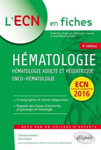 Hmatologie Adulte et Pdiatrique Onco-Hmatologie ECN 2016