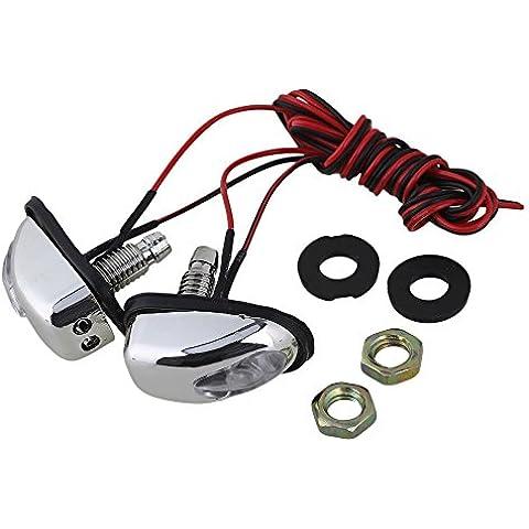BQLZR coche limpiaparabrisas Lavadora Ojos Boquilla parabrisas de vidrio Water Jet boquilla Luz LED Pack de 2