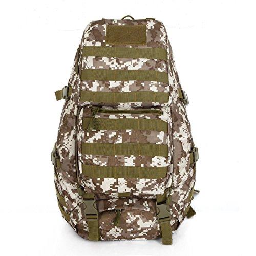 Mode Camouflage Multifunktions Outdoor Reise Tasche Bergsteigen Segeltuch Rucksack DesertCamouflage