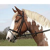 Heritage - Puente de caballo o pony de piel inglesa con nariz y banda de color