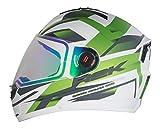 Steelbird R2K Night Vision Helmet Matt Finish with Day Night Dual Action Visor