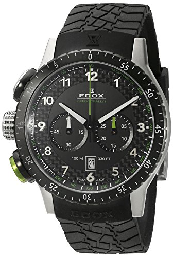 EDOX Unisex Watch EDOX RALLY CHRONORALLY 1 Instrument Chronograph Quartz Rubber 10305 3NV NV