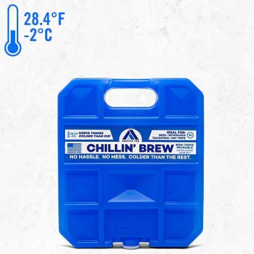 Arctic Ice Chillin Brew Series wiederverwendbar Kühler Pack, Unisex, blau -