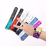 Buntes Pailletten-Schlag-Armband-Partei-Handgelenk-Bügel-Mode-Armband für Kinder