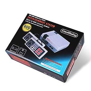 Retro Familie Edition Classic Mini Konsole Eingebaute 600 Spiele AV-Ausgang