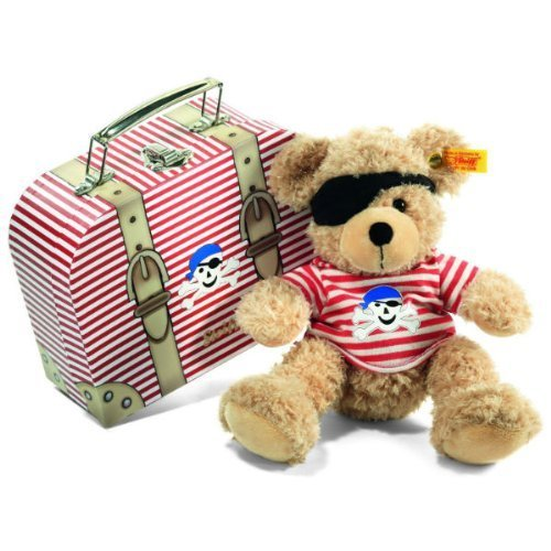 Steiff Fynn Teddy Bear Pirate in Suitcase (Beige) by Steiff