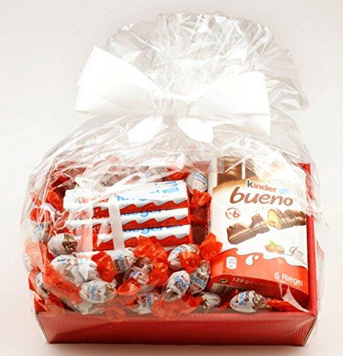 Korbfreu.de Geschenkkorb Linus - Trio aus Kinderschokolade Präsentkorb Geschenkidee Geschenk Geschenkset