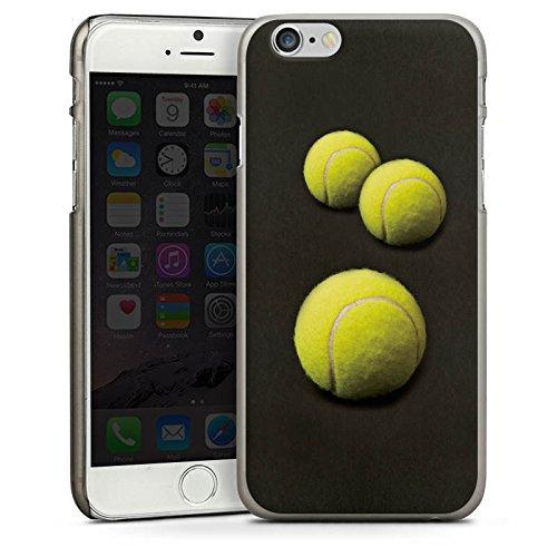 Apple iPhone 5 Housse étui coque protection Tennis Ballons Ballons CasDur anthracite clair