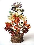 Healing Crystals India®: Natural Gemstone Tree 7 chakra Tree Reiki Gemstones Spiritual Feng Shui Vastu Table Décor