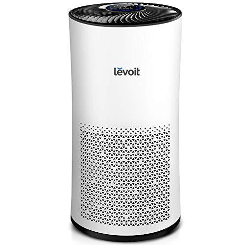 Levoit Luftreiniger Air Purifier mit HEPA-Kombifilter & Aktivkohlefilter, 3-Stufen-Filterung, Luftqualitätssensor Automodus Schlafmodus Timer, CADR 400m³/h, perfekt für Allergiker und Raucher, LV-H133