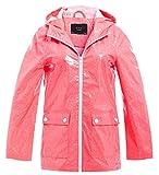 SS7 Damen Regen Mac Wasserdicht Funkeln Regenjacke Jacke Funkeln Muster Neon Rosa