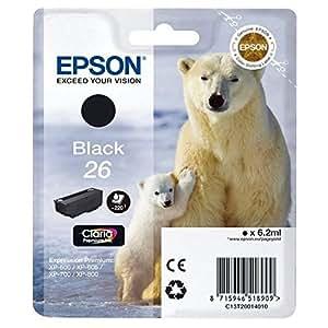 Epson T2601 Noir Cartouche d'encre (ours polaire)