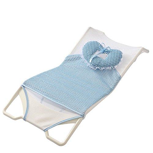 Moonvvin bagnetto, supporto per bagnetto, sedile in rete bagnetto vasca doccia per 0–6mesi baby