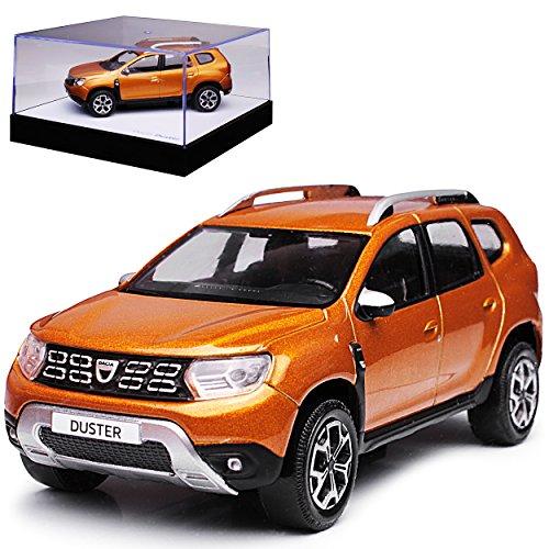Norev Dacia Duster II Taklamakan Orange Braun SUV 2. Generation Ab 2018 1/43 Modell Auto mit individiuellem Wunschkennzeichen (Modell Auto Duster)