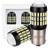AGLINT 2X 1156 BA15S Auto LED Ampoules Extrêmement Lumineux 66SMD 4014 12V 24V 1141 7056 DRL Stationnement Clignotants Feu Recul Feu Frein Feu Direction Voiture Lampe (Blanc, P21W)
