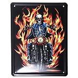Hells Angels, Motorbike Design, Vintage Metal Door SIGN OR Wall Plaque