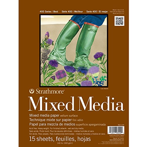Strathmore : 400 Series Mixed Media Pad : 140lb 9X12 Inch -