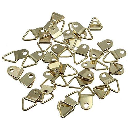 Blue Vessel 20 Stück D Ringrahmen Aufhänger Haken Bilderrahmen Hängende Dreieck Schrauben Messing Plated mit Schrauben