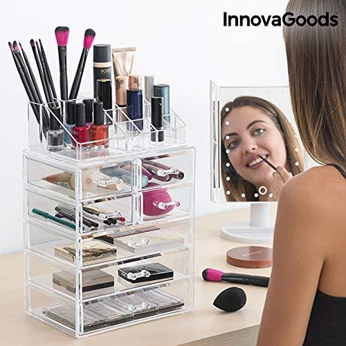 InnovaGoods Organizador Maquillaje Acrílico - 1 Unidad