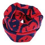 Kinder Loopschal Loop Schlauchschal Tuch mit Smile Face Muster gestrickt Rundschal Halstücher Winter Schal für 1-6 Jahre Baby Mädchen Jungen