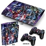 """PS3 Super Slim Playstation Pegatinas de PVC para la Consola + 2 Controladores Decal Protector Arte ''Heroes"""""""