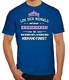 Geschenk Zum Geburtstag Jubiläums Abschied Herren Männer T-Shirt Rundhals Leg Dich Niemals mit Einer Erzieherin an, Größe: 3XL,Royal Blau