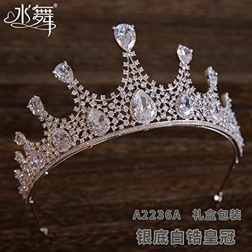 Die Haare, die Krone, die Atmosphäre, die der neue Man-made Zircon diamond Krone, Krone, Kopfschmuck, Hochzeit Zubehör, Geschenkboxen., Weiß Zirkonium crown