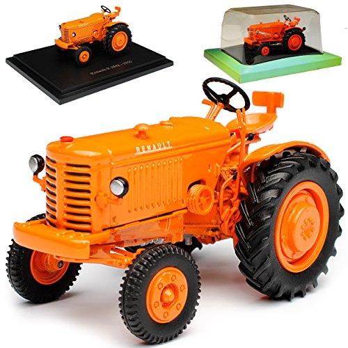 Ixo Renault R 3042 Traktor Orange 1/43 Modell Auto mit individiuellem Wunschkennzeichen