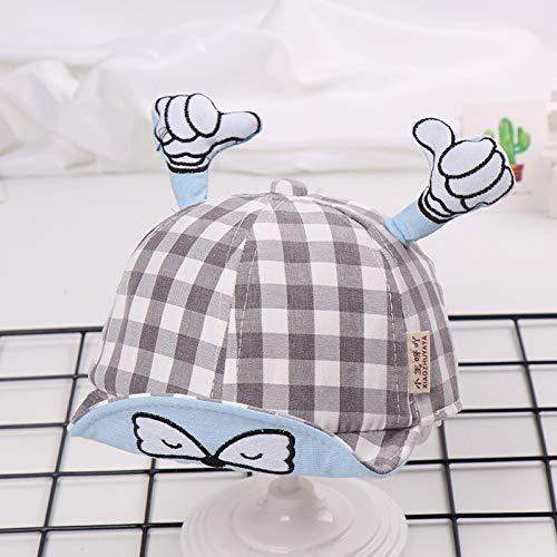 zhuzhuwen Thumb Soft NET Mütze Kinderhut Kids Visier Baby Sonnenhut Mütze 7 48-50cm (Clip Polizei Hut)