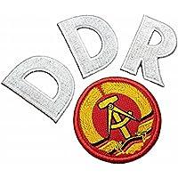 TIDE028T + TIDE031T DDR Alemania 1974 Parche bordado de escudo de fútbol  para planchar o coser 365b5ac881e4a