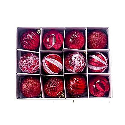 Yisily-12st-Weihnachtskugel-Ornamente-Weihnachts-Hanging-Tree-Dekoration-Shatterproof-Funkelnde-Hngende-Kugel-Weinlese-Mercury-Kugeln-Fr-Zuhause-Party-Dekoration-rot