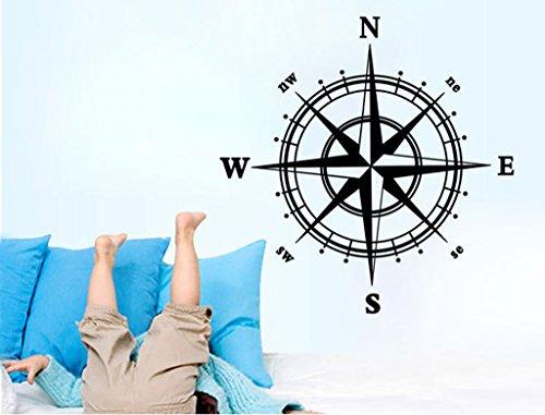 Aoligei Kompass Wohnzimmer Schlafzimmer Hintergrund Wandaufkleber